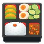 Bento Icon Emoji Transparent Lunch Clipart Google