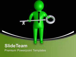 man  success key business powerpoint templates
