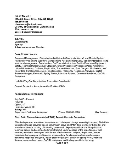 Government Resume Exles by Federal Government Resume Sles