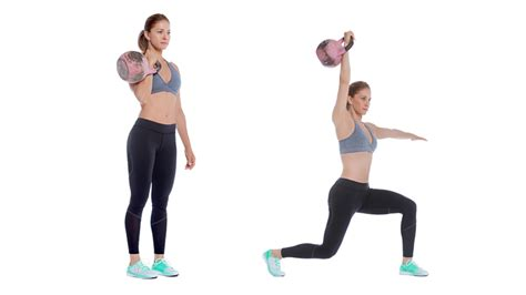 kettlebell bell lunge press kettle workout leg swing exercises drive legs chest exercise does quick benefits upper body weight arms
