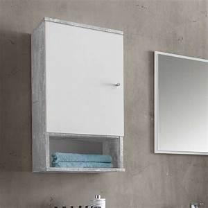 Badezimmerschrank 35 Cm Breit : badezimmer h ngeschrank in wei grau beton optik 35 cm breit jetzt bestellen unter https ~ Whattoseeinmadrid.com Haus und Dekorationen