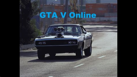Dom Fast And Furious Car by Gta V 70s Dodge Charger R T Dom Toretto The Fast And The