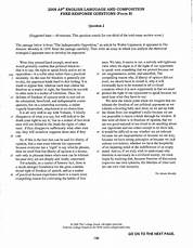 Image Result For Ap Language And Composition Sample Rhetorical Analysis Essays
