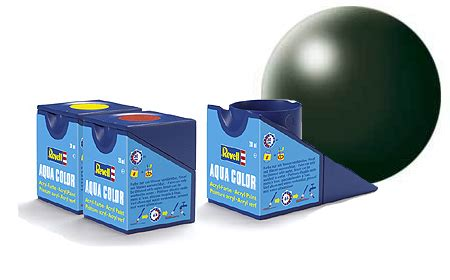 revell 18ml aqua color green silk acrylic paint 363