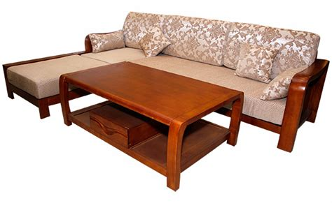 Wooden Sofa Set Shopping by Solid Wooden Sofa Set With Tea Table Sd 074