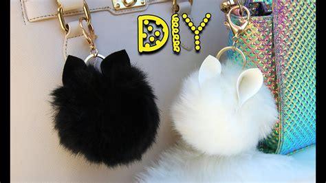 diy animal pom pom keychains lucykiins youtube