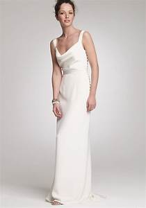 Simple draped second wedding dress for when he asks for Simple second wedding dresses