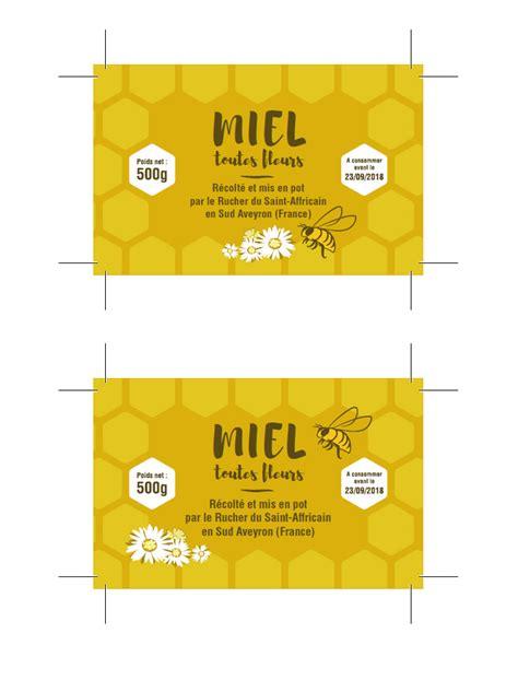 graphisme pour des 233 tiquettes de pots de miel pour le rucher du affricain wide design