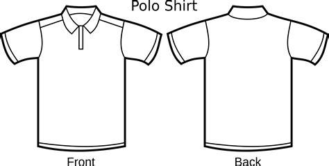 sablon printing kaos free polo shirt template clipart illustration