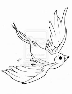 Sparrow Outline Tattoo Designs | www.imgkid.com - The ...