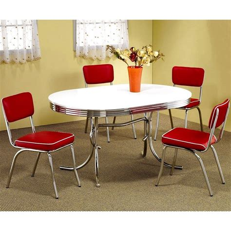 31000 retro chrome dining set current oval retro 50 s 7 chairs dining sets table white