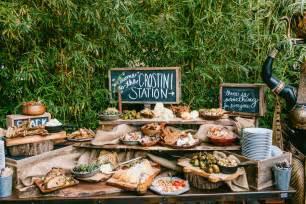 Rustic Wedding Reception Food Station Ideas