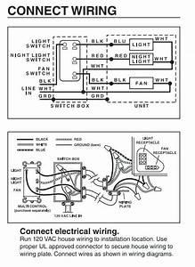 Nutone Ceiling Fan Light Model 763rln Wiring Diagram