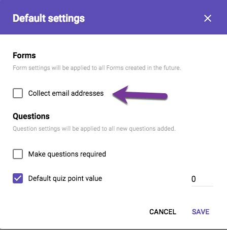 google forms default to require email address teacher tech