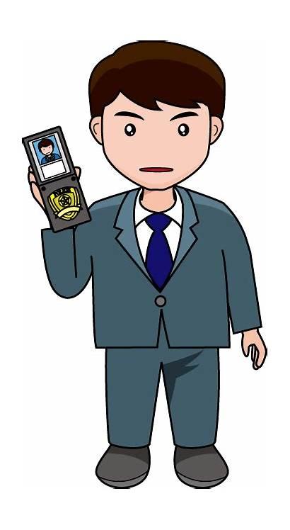 Detective Police Clipart Clip Detectives Cliparts Crime