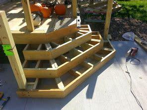 deck stairs ideas  pinterest