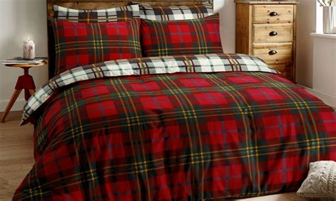 Brushed Cotton Tartan Check Duvet