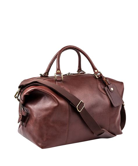 Brown Leather Travel Bag Purse Lyst Barbour Leather Explorer Travel Bag In Brown For