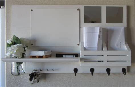 entryway mirror with key hooks simple home decoration