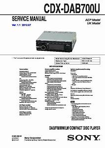 Sony Cdx-dab700u Service Manual