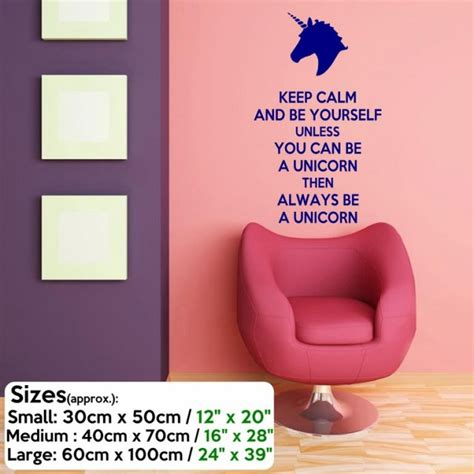 calm    unicorn funny wall decal wall