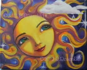 Sun Face Art Painting