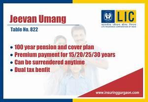 Lic Jeevan Umang 100 Year Plan From Lic Example Chart