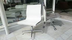 Chaise De Bureau Excutive NULITE Cuir Pleine Fleur Blanc