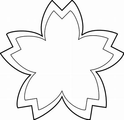 Flower Simple Drawing Outline Clip Clipart Flowers