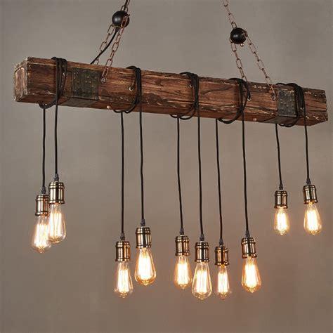 kitchen island single pendant lighting farmhouse style distressed wood beam large linear
