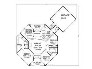 small log cabin floor plans floor plan hexagon house contemporary home 059h 0142