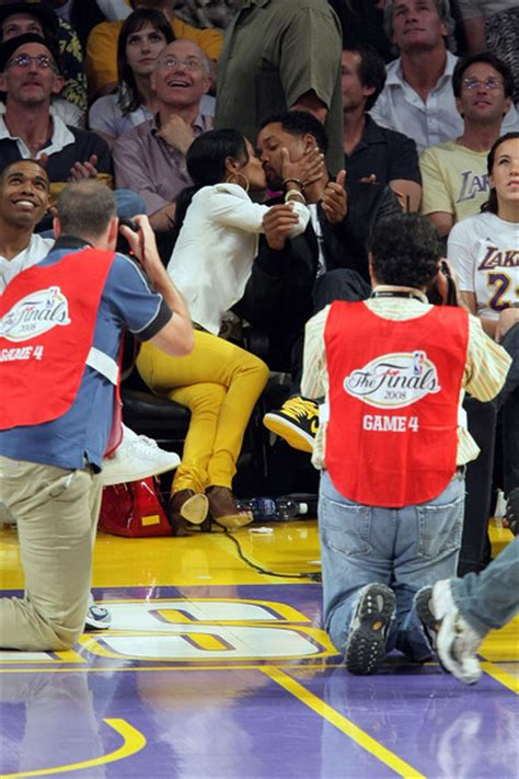 smith  celebrities  nba finals game  la lakers