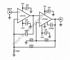 low noise audio line driver circuit wiring diagrams With audio line driver