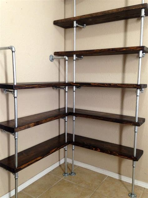 Corner shelving unit Corner shelf Pipe Shelving