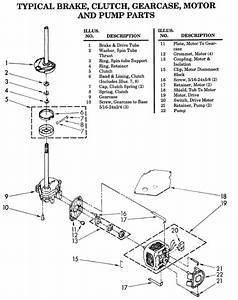 Whirlpool  U0026 Sears Kenmore Dd Brake Clutch Break Down
