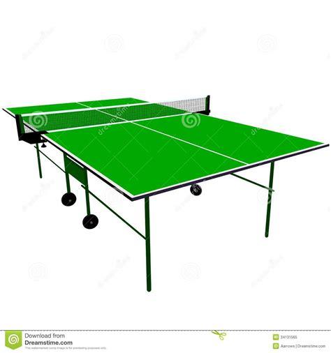 free ping pong table ping pong green table tennis stock vector image 34131565