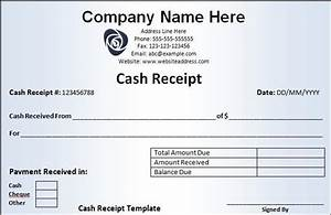 cash receipt template free word templates With receipt of funds template