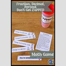Fractions, Decimals, Percents Don't Get Zapped Math Game  Math For Sixth Grade Pinterest