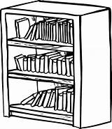 Bookcase Bookshelf Shelf Coloring Drawing Clipart Shelves Draw Library Drawings Sketch Sheet Drawn Template Shelving Drawer Getdrawings Floating Clipartmag Paintingvalley sketch template