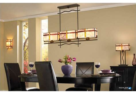 craftsman lighting dining room kichler lighting tacoma collection craftsman dining