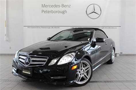 The second options package adds interior features such as keyless ignition, blind spot monitoring, and the availability of adaptive cruise control. Pre-Owned 2013 Mercedes-Benz E-CLASS E550 Convertible #P2885   Mercedes-Benz Canada New and CPO ...