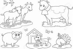 Free Clipart Farm Animals Black And White - ClipartXtras