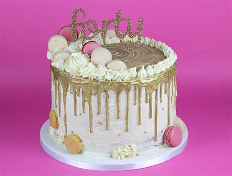 gold drip cake cakey goodness