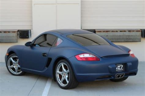 matte blue porsche sell used 2007 porsche cayman s matte indigo blue 6 speed