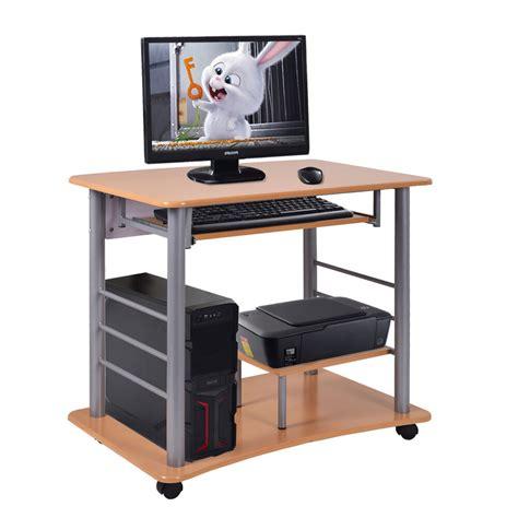 laptop workstation desk rolling computer desk laptop pc table workstation study