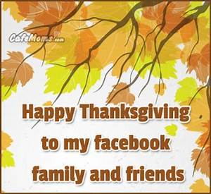 Happy Thanksgiving To My Facebook Friends And Family ...
