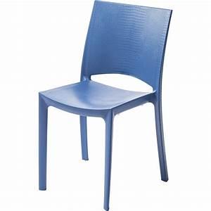 chaise de jardin en resine cocco bleu leroy merlin With leroy merlin chaise jardin
