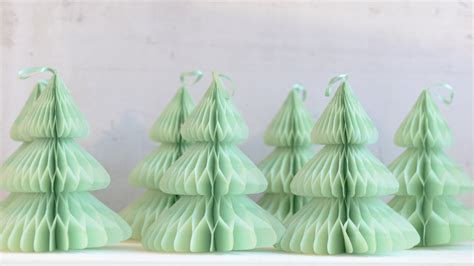 paper christmas tree honeycomb decoration by decohoneycombs