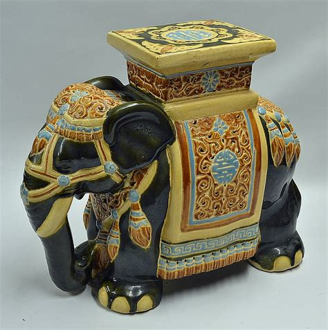 elephant plant stand large large ceramic elephant plant stand decorated in tr