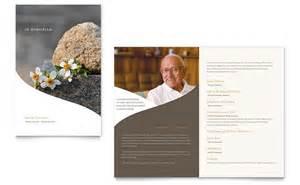 wedding programs trifold memorial funeral program newsletter template word